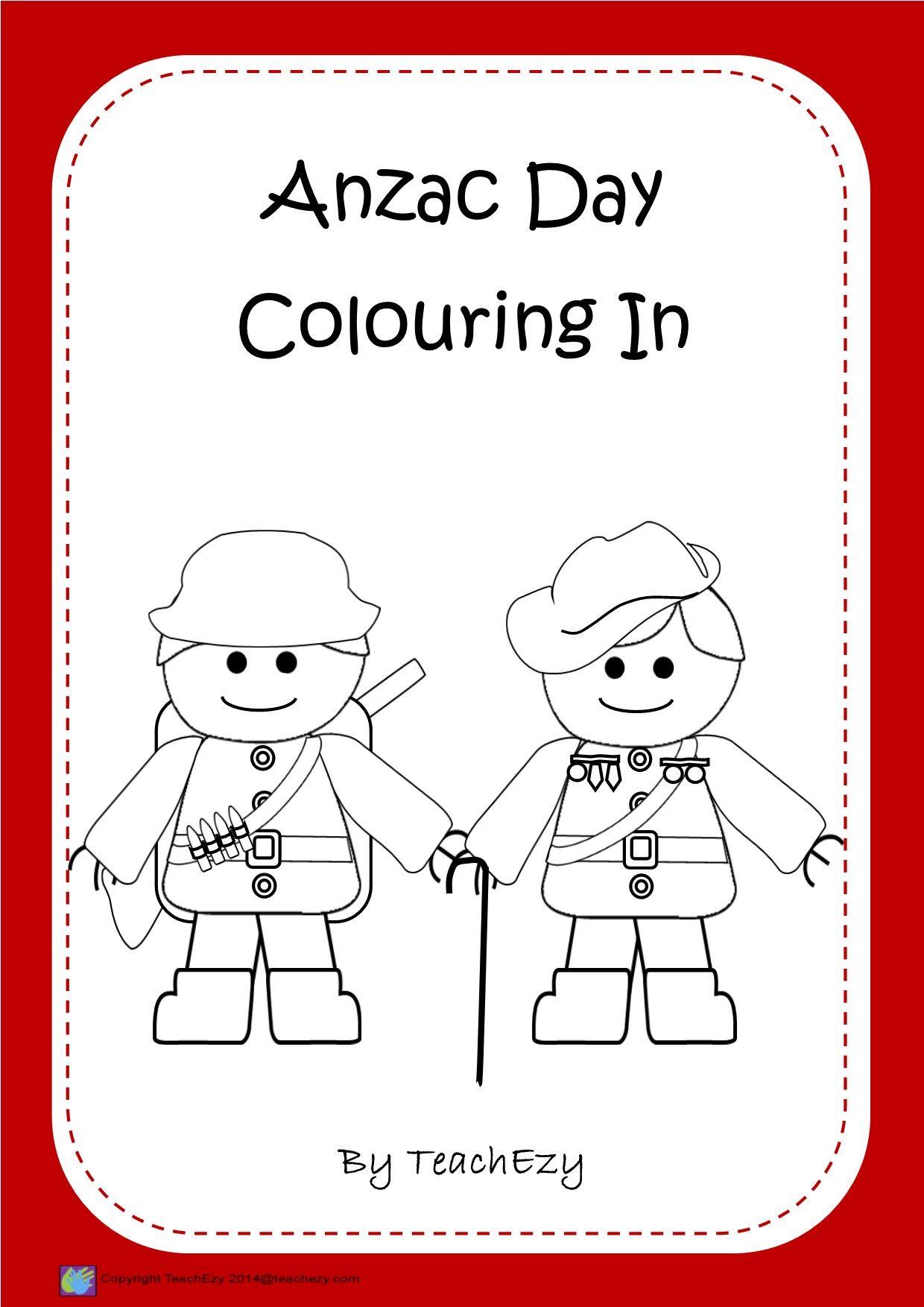 Anzac Day Colouring Printables