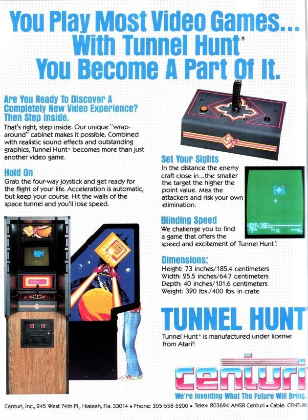 You Play Most Video Games... With Tunnel Hunt You Become A Part Of It