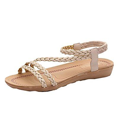 Amazon com | Binmer(TM) Women Summer Weave Sandals Home
