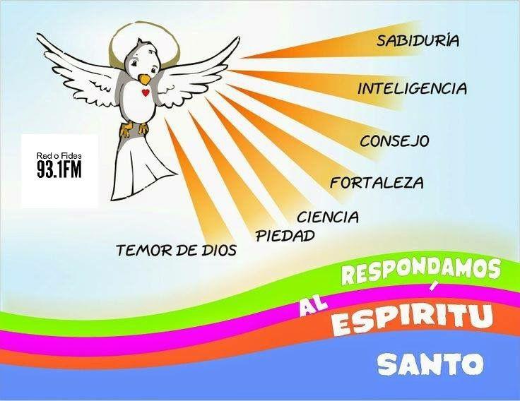 Los 7 Dones Que Nos Da El Espiritu Santo Dones Del Espiritu Oraciones Catolicas Espiritu Santo