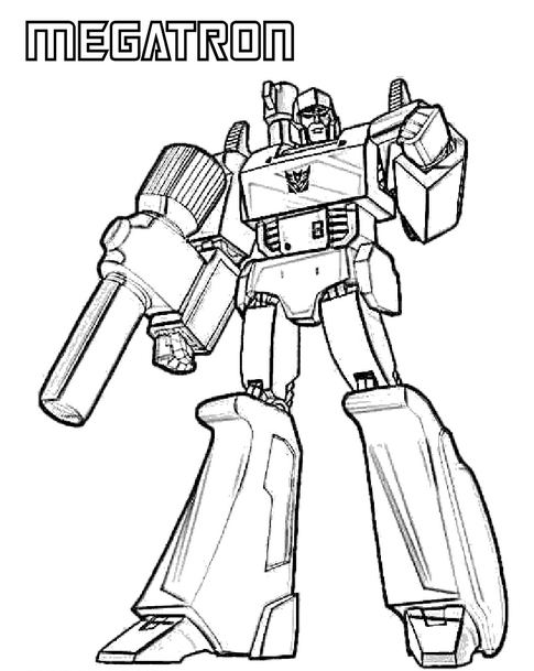 print coloring page and book transformers megatron coloring page for kids of all ages - Transformers Coloring Pages