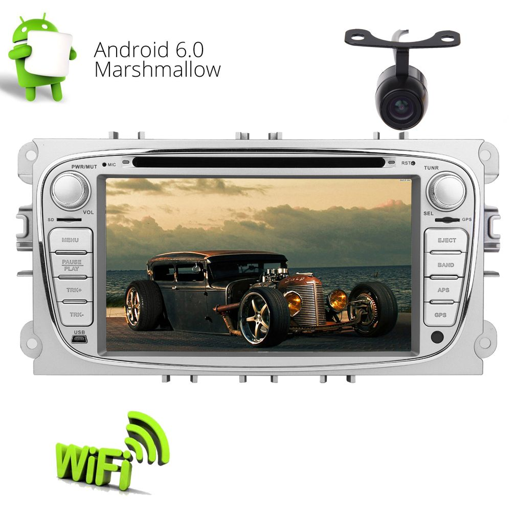 Backup Cam Eincar Pure Android 6 0 Car Gps Stereo Quad Core Double
