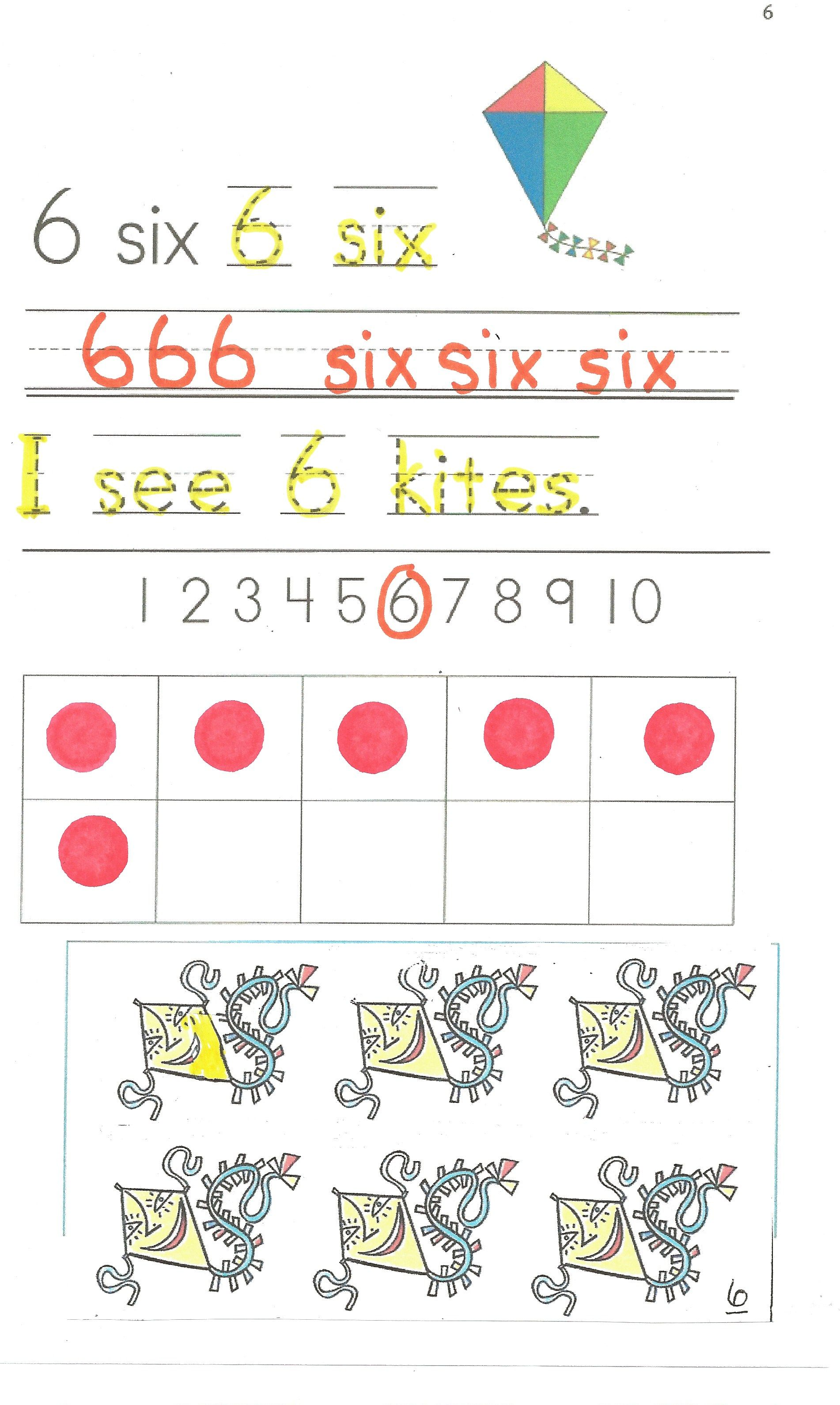 A Sample Page From The Easy Reader 123 Count Kites With Me