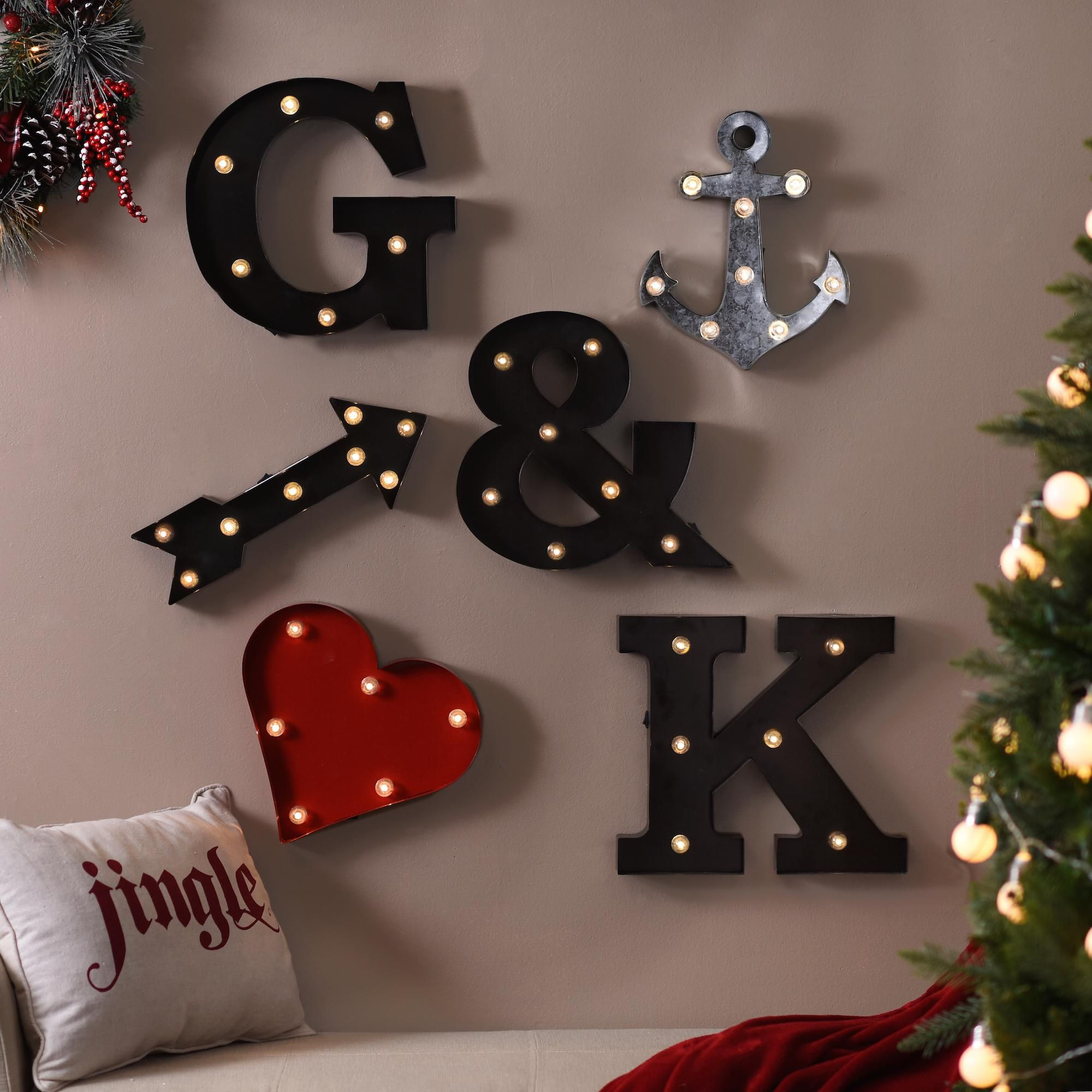 Spruce up your wall decor with LED Letters and Icons! These marquee lights add a fun touch to your normal decor. Shop now and save 50% off select styles through January 24.