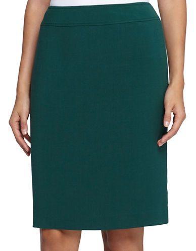 1f6552f54b Tahari Arthur S. Levine Petite Solid Pencil Skirt Women's Emerald Peti