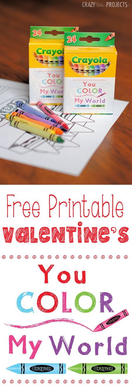 Color My World Valentine Printable Great Valentines Day IdeasKids