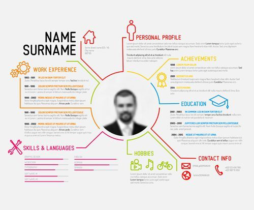 Image result for really simple infographics infographic - infographic resume templates