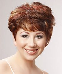 short straight red hairstyle  celebrity short hair cheap