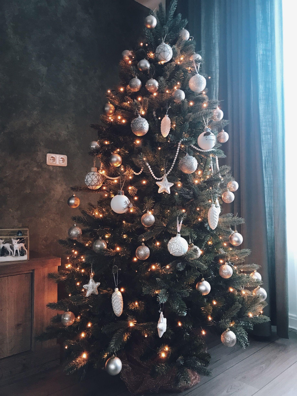 Kerstboom goud en wit #kerstboomversieringen2019