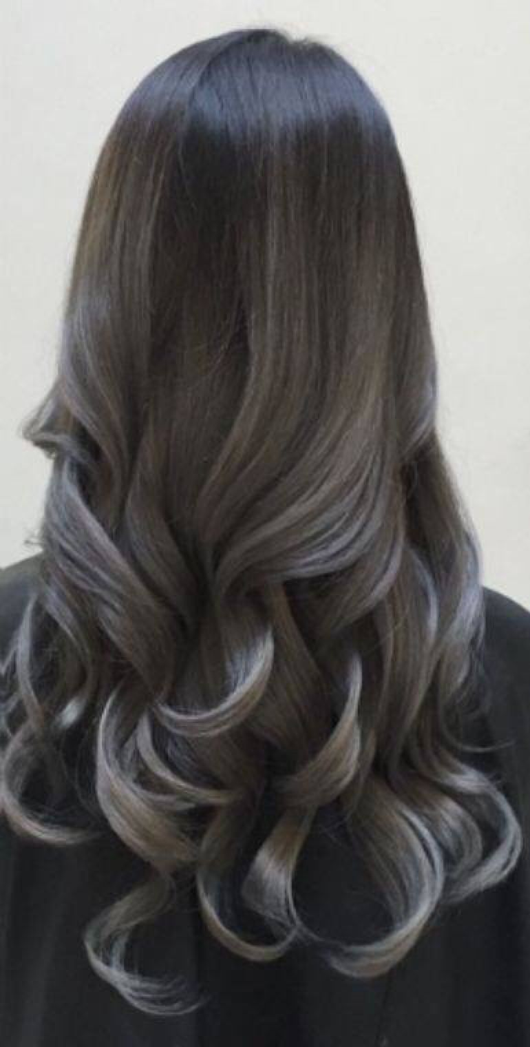 black to gunmetal gray/silver ombre | hair | pinterest | silver