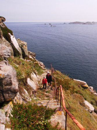 Climbing up to the lighthouse