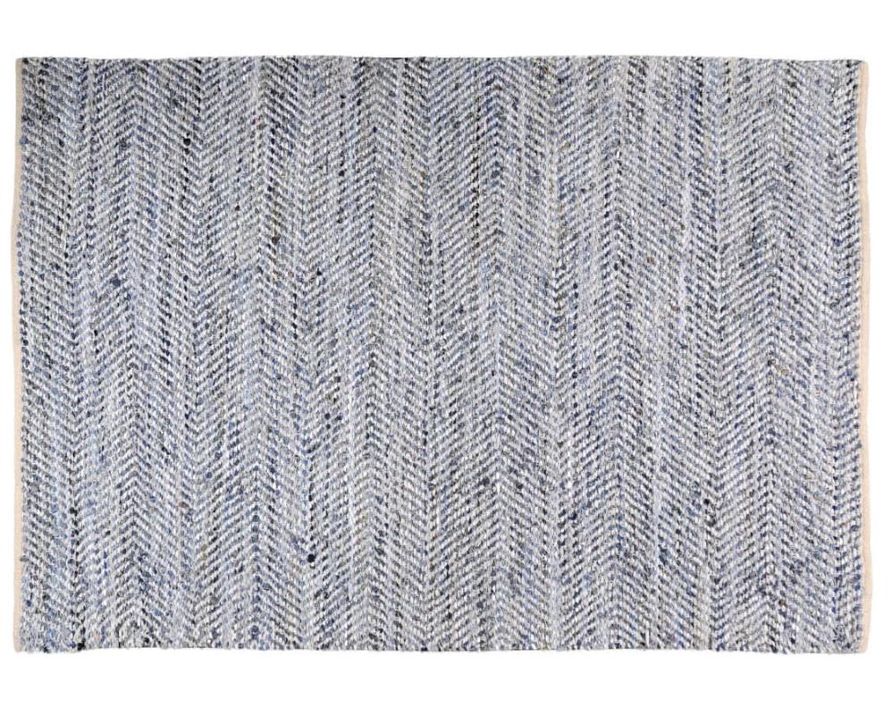 Tapis 55x85cm Couleur Blanc Et Bleu Collection Atlas The Rug Republic Tapis Tapis Bleu Teinte De Bleu