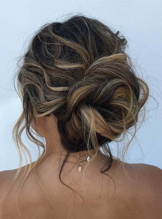 Messy Bun Updo For Special Occasions Hair Styles Hairstyle Up Hairstyles