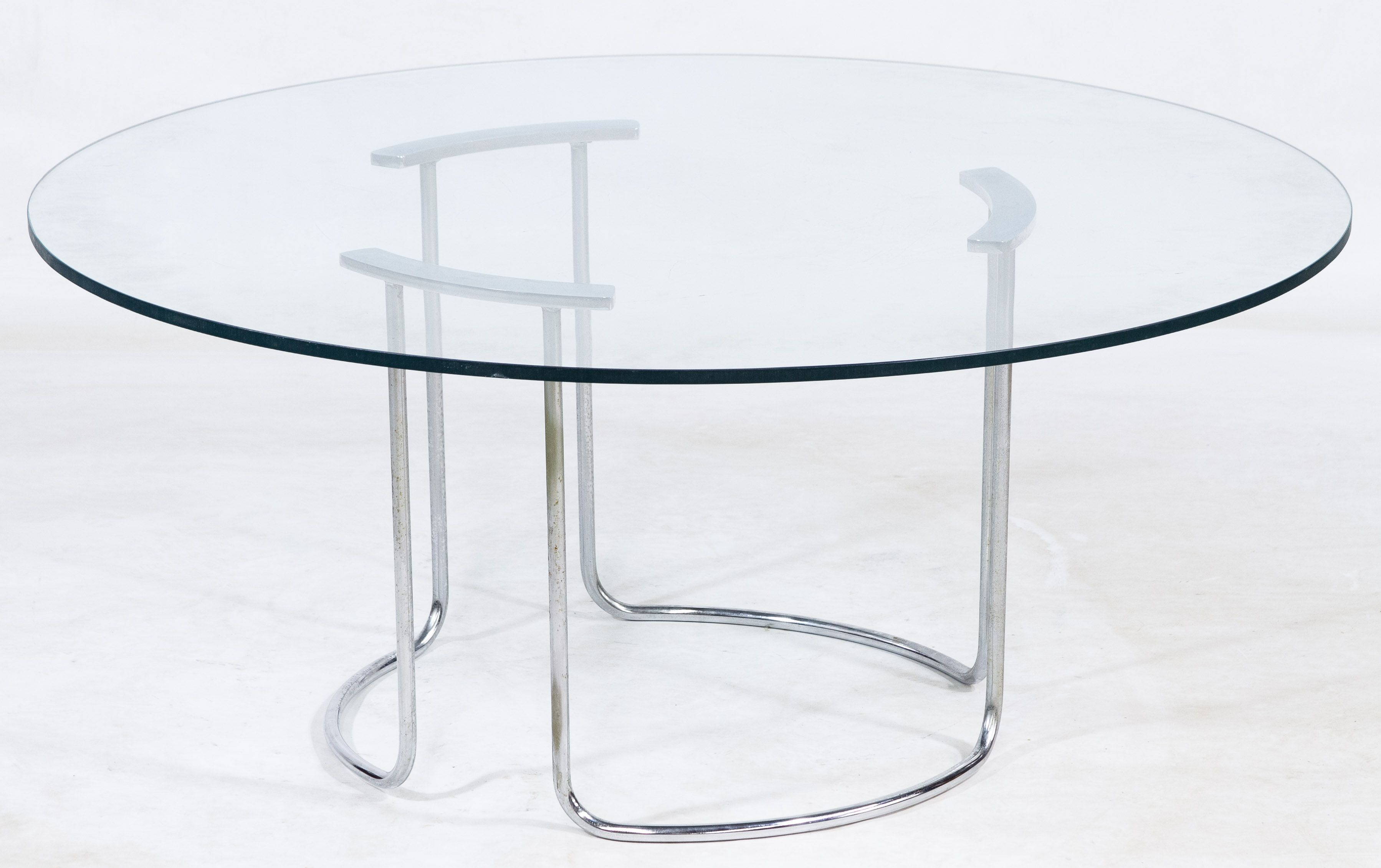 Modern glass end table  Lot  MidCentury Modern Chrome and Glass Coffee Table c