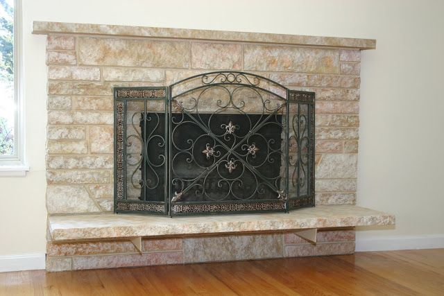 Remodelaholic | Restoring A Painted Stone Fireplace