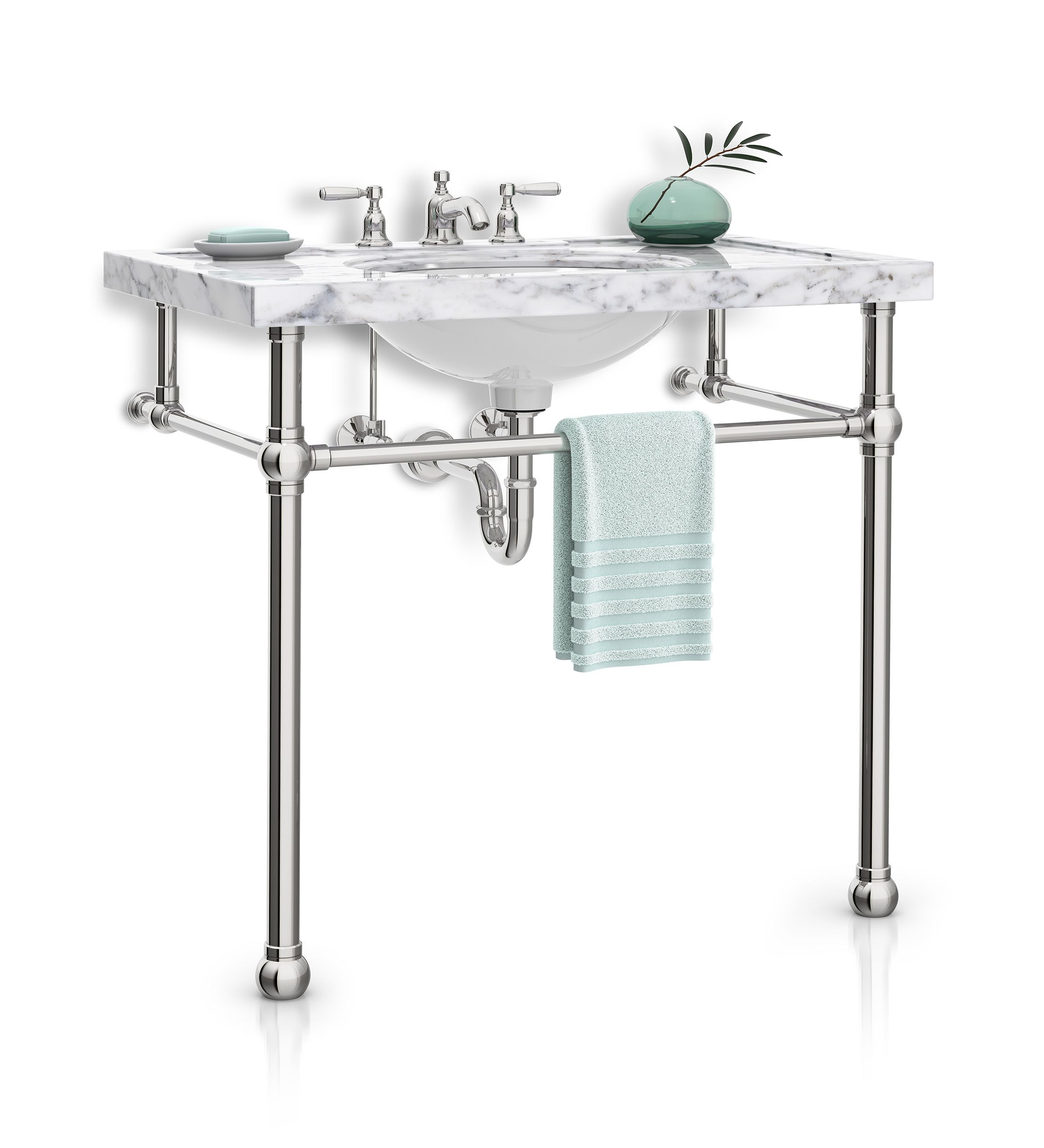 Ball Foot Ls2bl Console Sink Sink Legs Tapered Feet