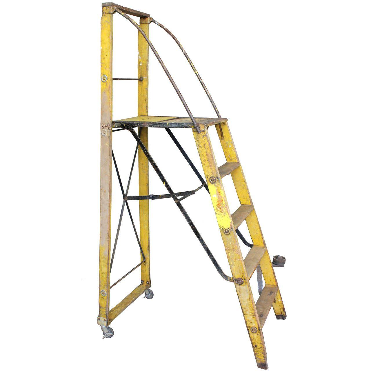 1900s Dry Goods Store Folding Ladder 1stdibs Com Ladder Vintage Ladder Folding Ladder