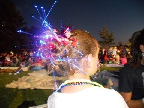 Messy Glow Bun {So fun for holidays and Spirit Day at school!}