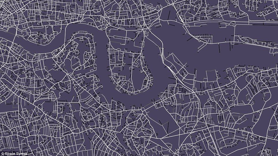 the map of londons streets that was used as the floor of the arena for part of danny boyles opening ceremony it was created by london firm space syntax