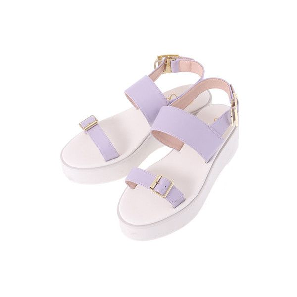 E hyphen world gallery BonBon ❤ liked on Polyvore featuring shoes and sandals