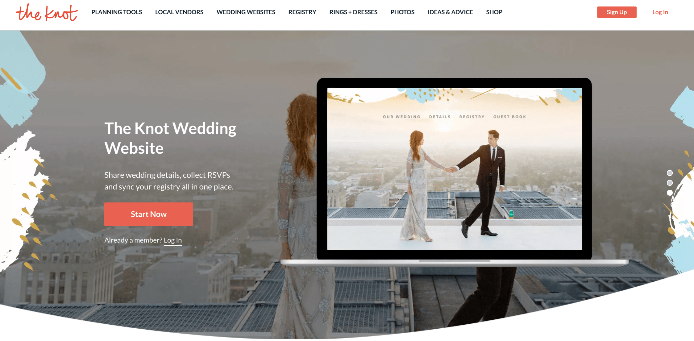 The Knot Best Wedding Website Builders For Couples The Waterlily Bride In 2020 Wedding Website Builder Wedding Website The Knot Wedding Website