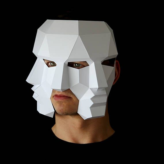 Three Face Mask Make This 3D With PDF Download And