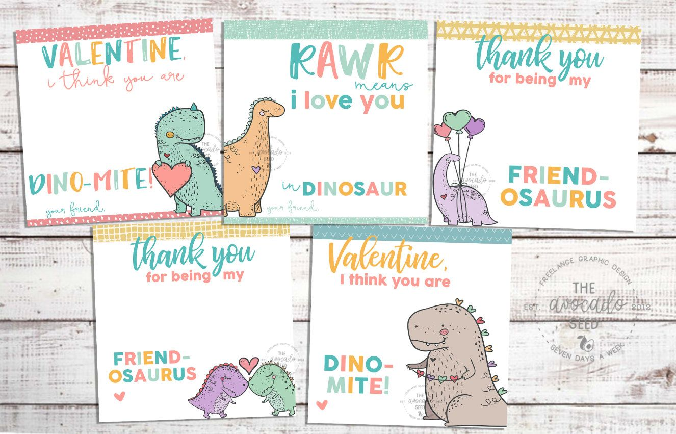 You Are DINOMITE! Happy Valentine's Day Boy Dino Card Girl ...