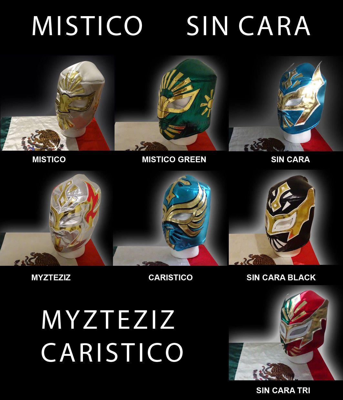 1499 Mexican Wrestling Mask Mistico Sin Cara Black Myzteziz