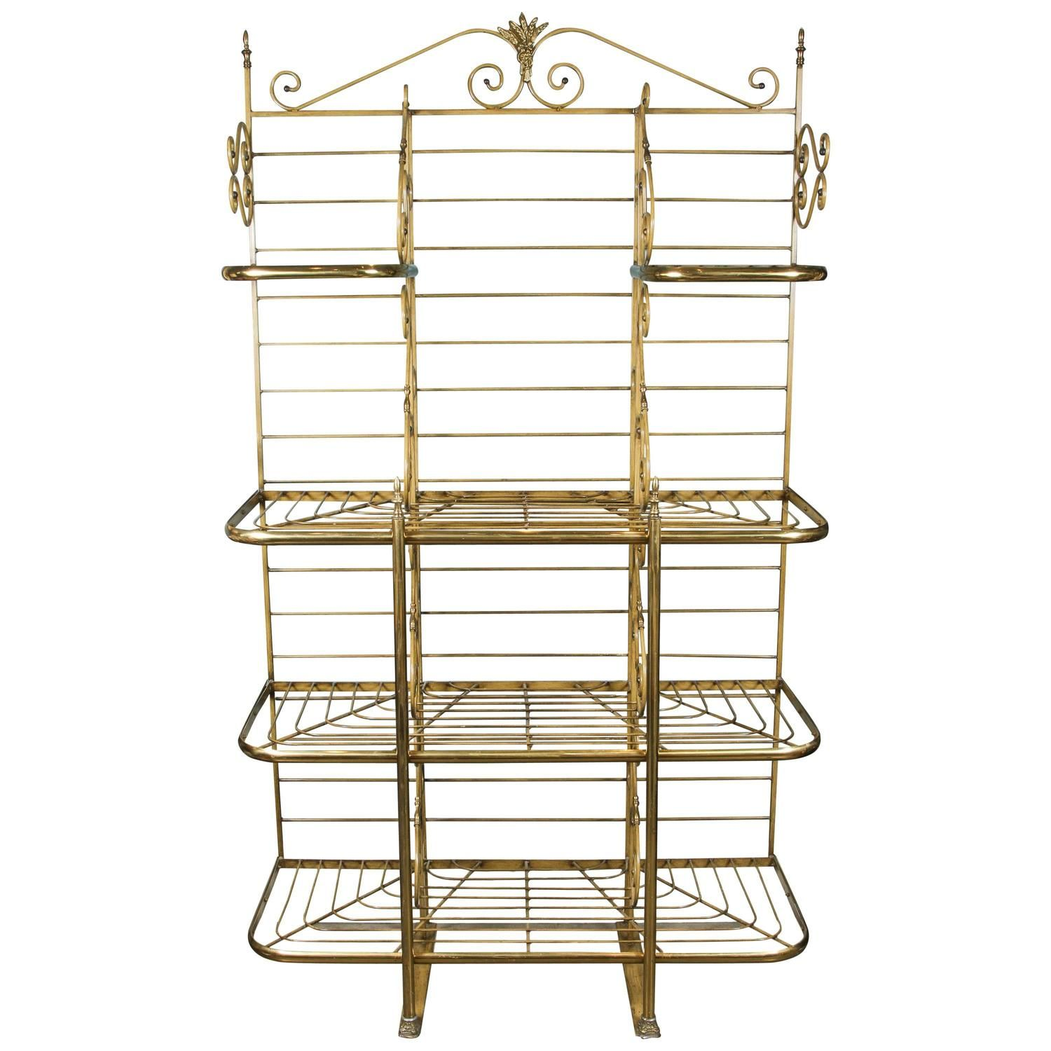 French Iron And Brass Bakers Rack From A Unique Collection Of