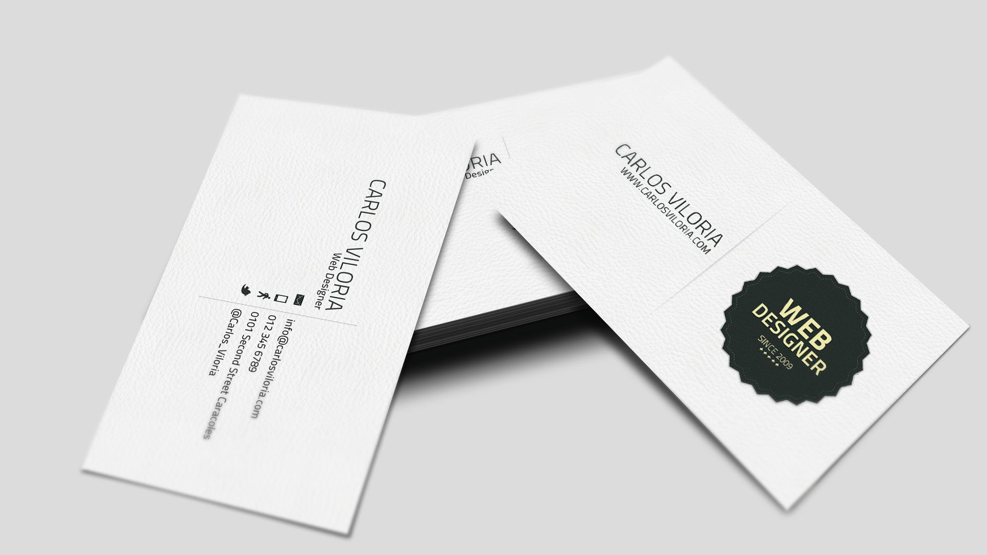 Free Retro Business Card Design and Mockup Mockup and Business cards