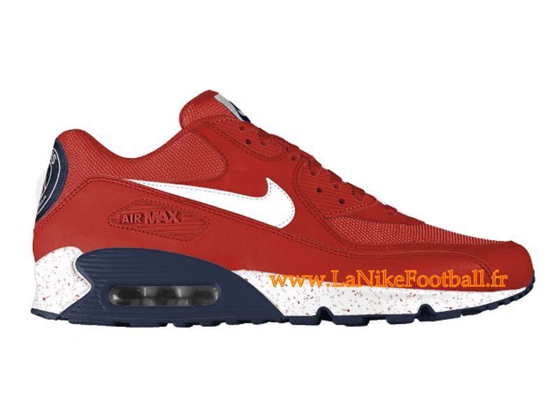 best service 405d8 3c491 Nike Air Max 90 PSG Chaussures Nike 2015 Pas Cher Pour Homme Rouge