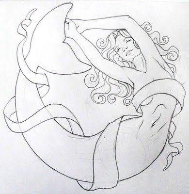 Lori-Lee Thomas - Fine Art & Illustration Blog: Watercolor Mermaid