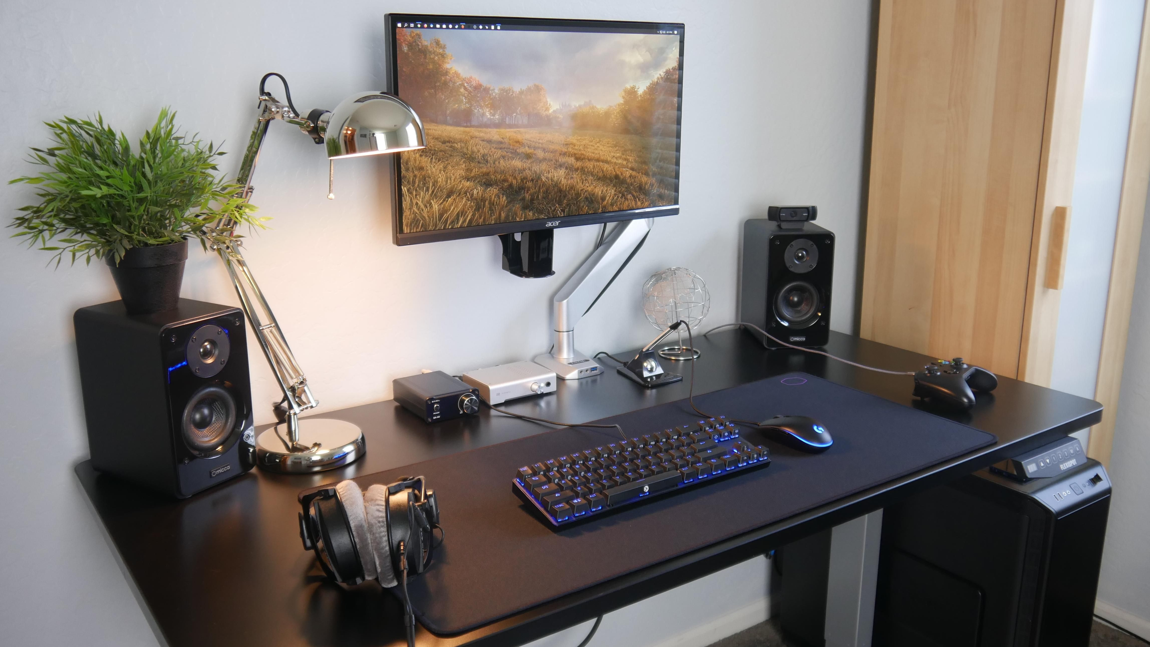 My Single Monitor SitStand Desk Setup Desk setup, Sit