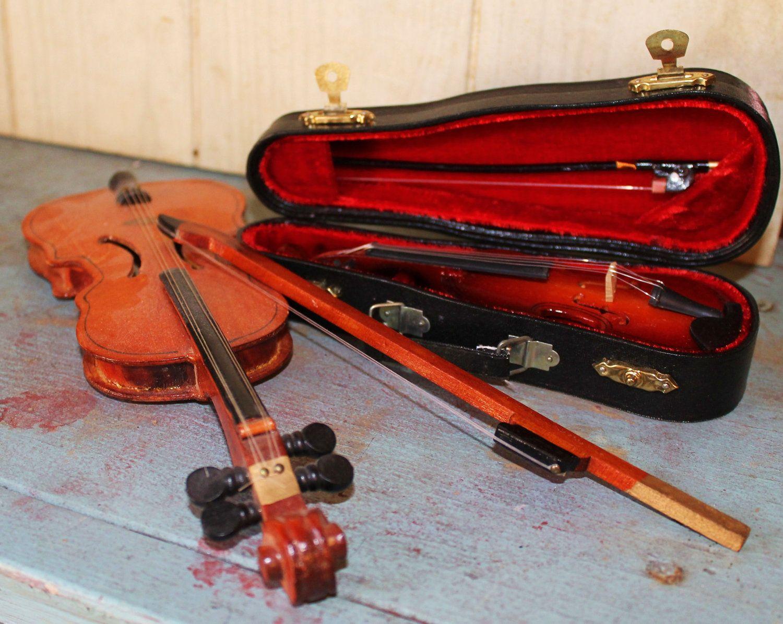 Miniature Violins - Collectibles - Musical Instruments - Replicas. $30.00, via Etsy.