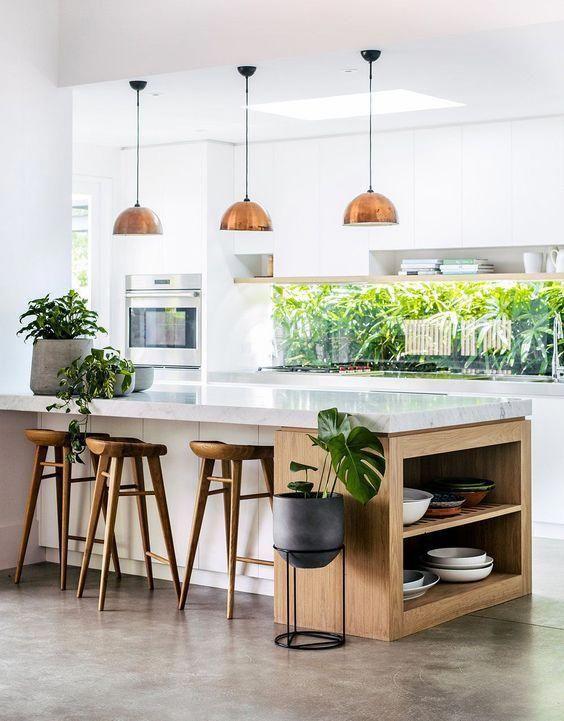 Outstanding Thing Kitchendecor Avec Images Cuisine Contemporaine Cuisine Moderne Cuisine Blanche Et Bois