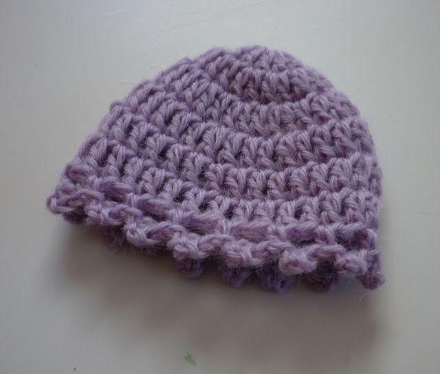 Purple Picot Hat | Pinterest