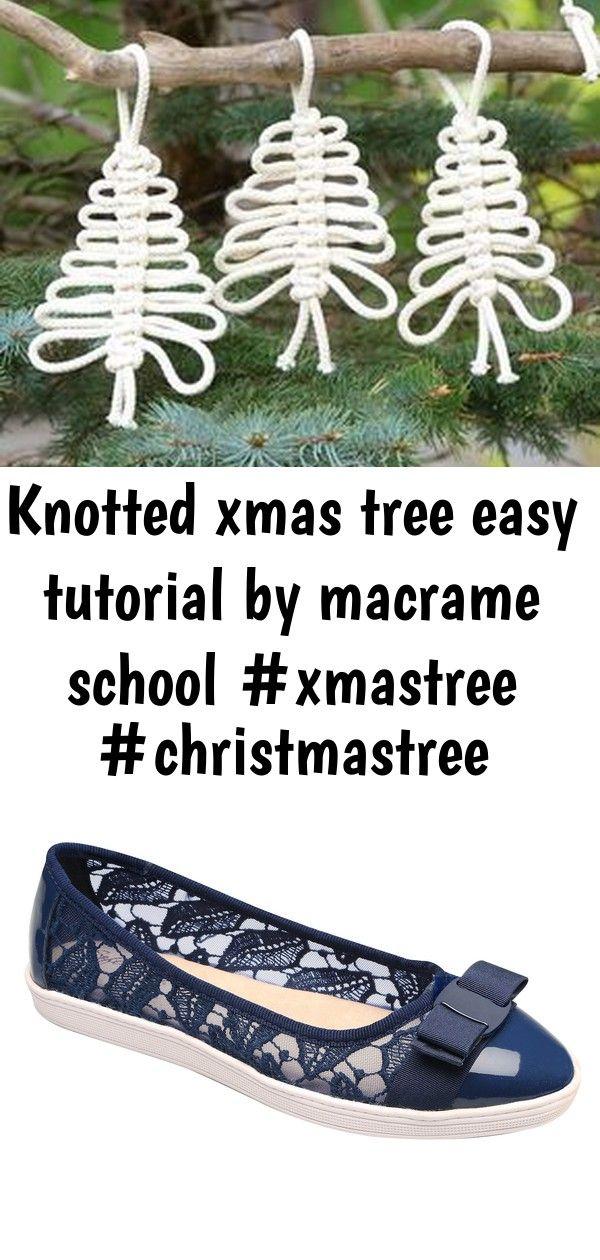 Knotted xmas tree easy tutorial by macrame school 9 Knotted Xmas Tree Easy Tutorial by Macrame School Soft Styler Macrame Ballet Shoe  Navy  Medium  Size 9 YouTube Free S...