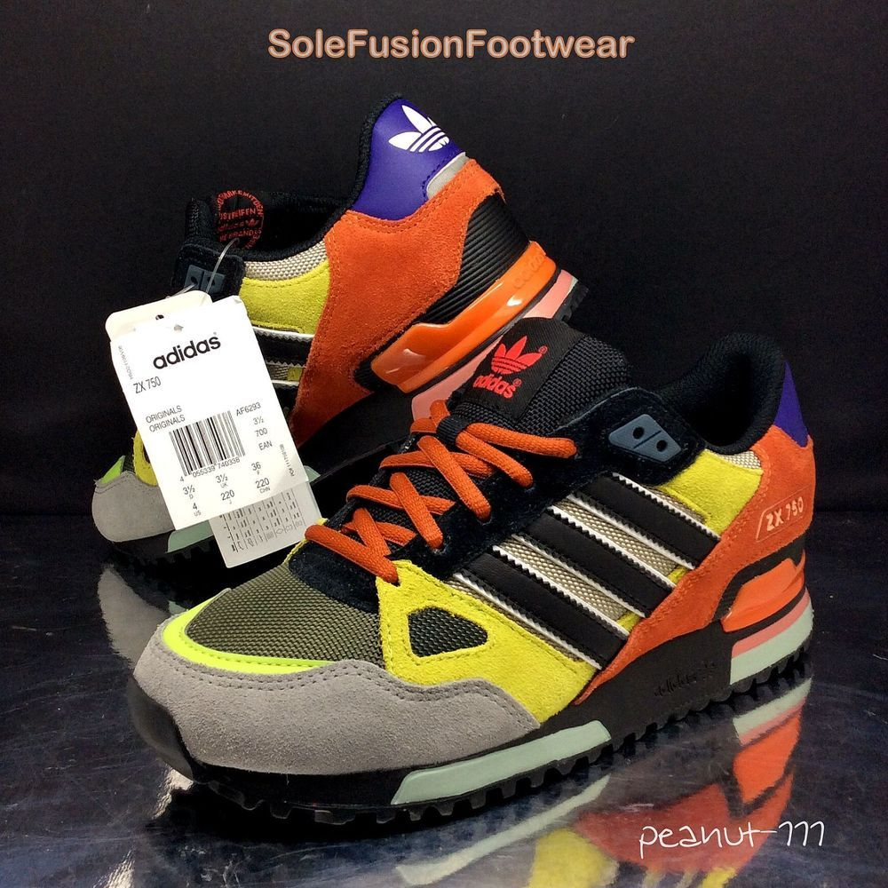 new styles 2ed1f 1ac04 adidas Originals Womens ZX 750 Trainers size 3.5 Mens Boys Rare Sneakers US  4 36   eBay