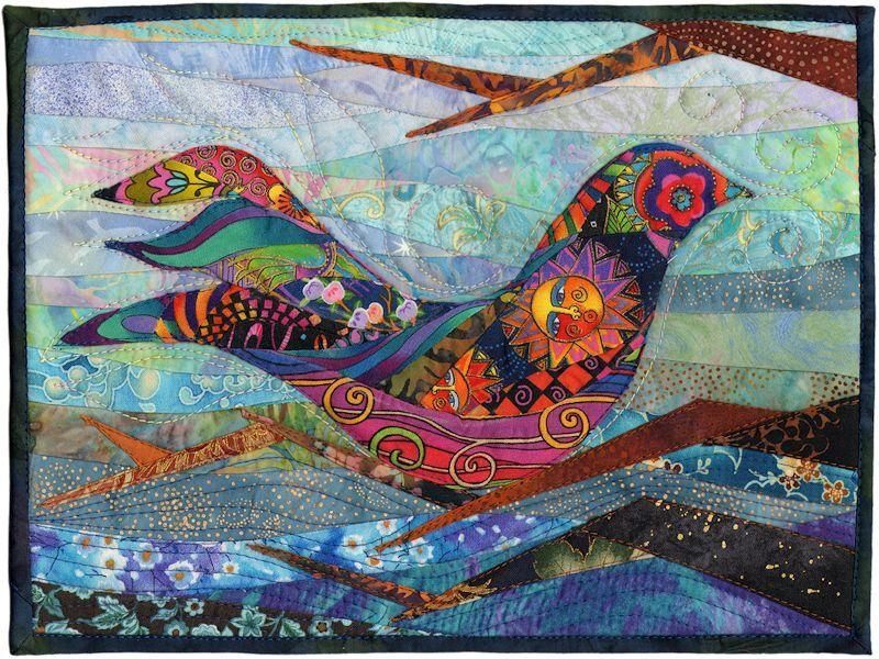"""Beautiful!!  Quilt #10581 - Sassybird  Peg Green  Reston, VA USA  Width: 12"""" Length: 9""""    COOL."""