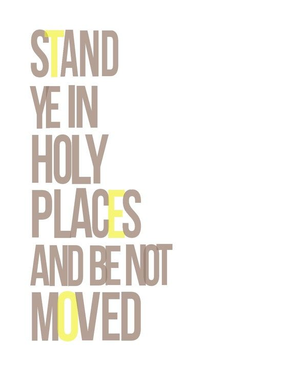Stand Ye In Holy Places Printable digital art print LDS Youth Theme 2013 pdf