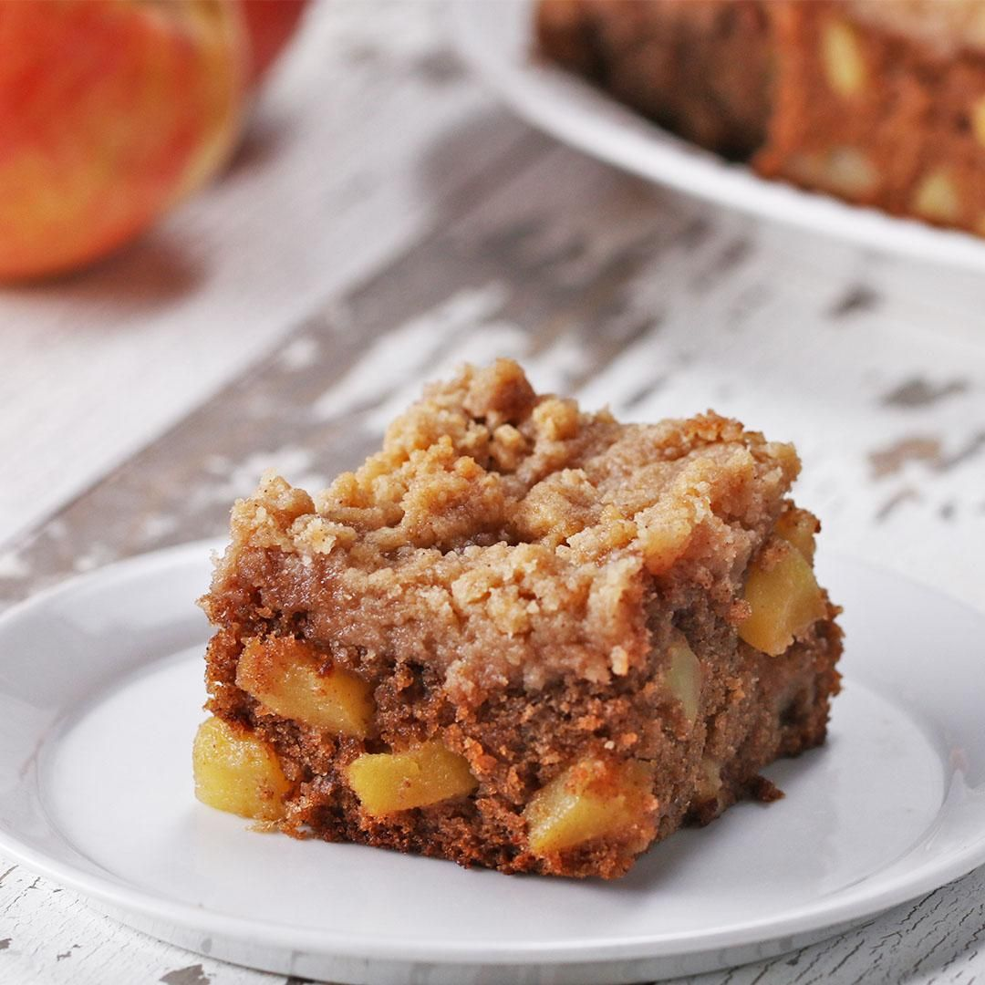 Apple Pie Crumble Blondies Recipe by Tasty
