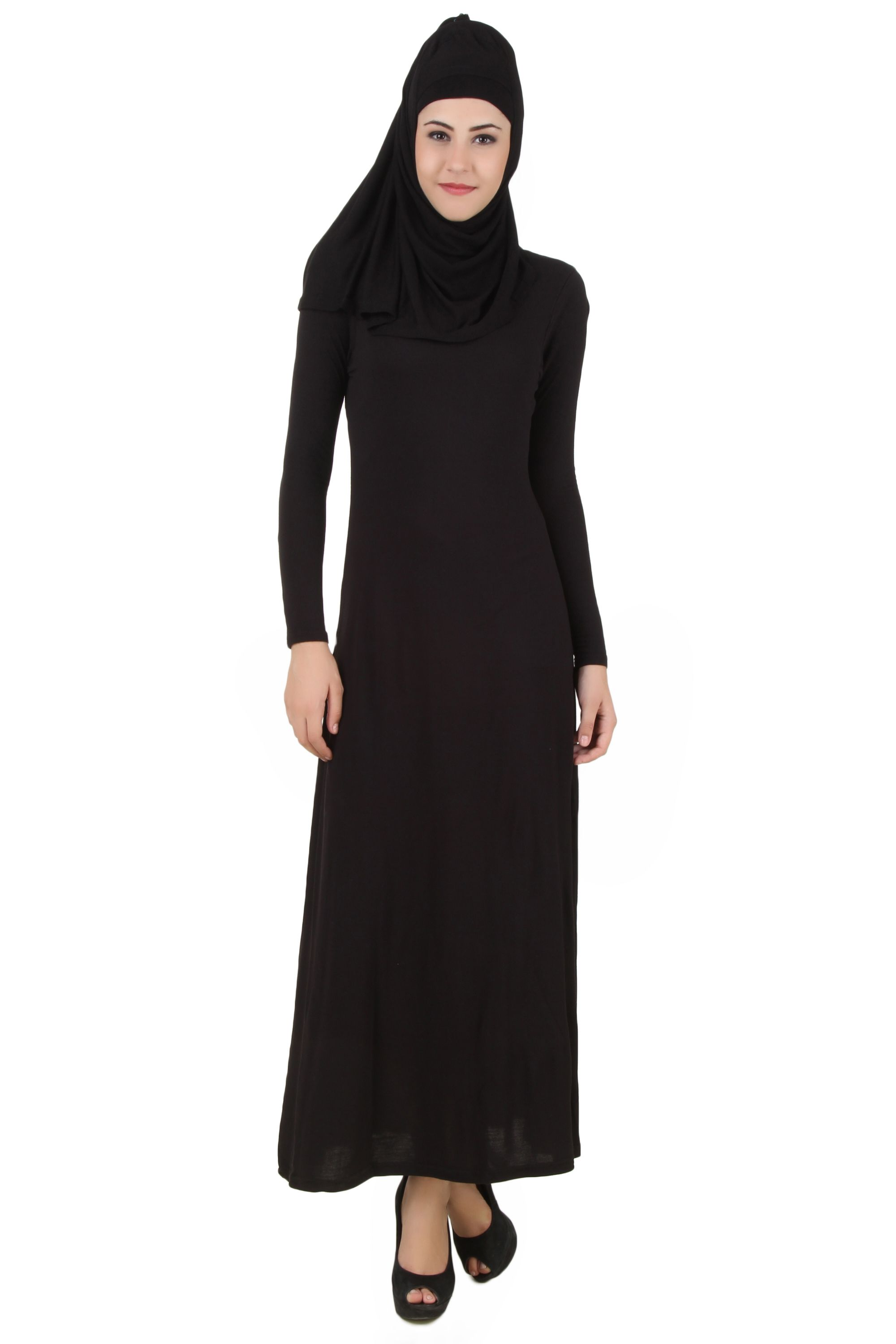 47bc1f3397b Tunics. Islam. MyBatua Asna Black Jersey Rayon Abaya | Available in sizes  XS to 7XL, lenth 50