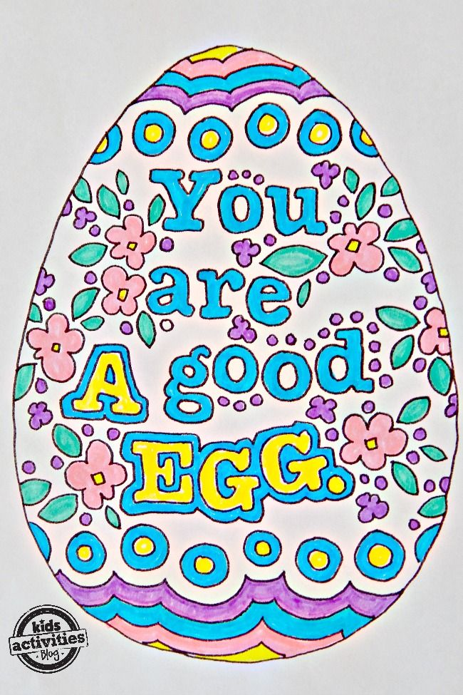 Easter Egg Idiom Doodle Art Coloring Pages - Kids Activities Blog ...