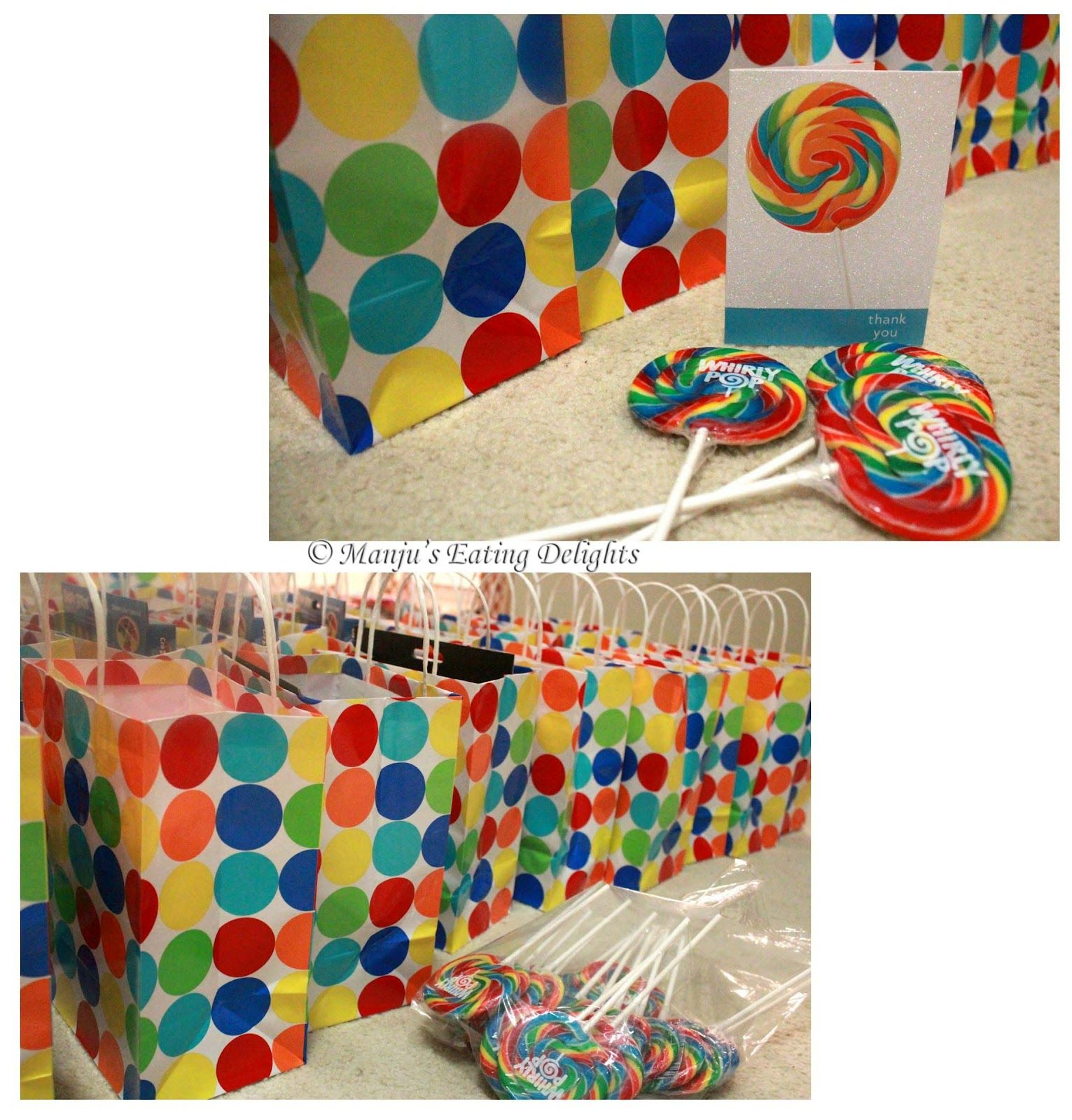 1 Year Birthday Return Gifts For Kids Rainbow Party
