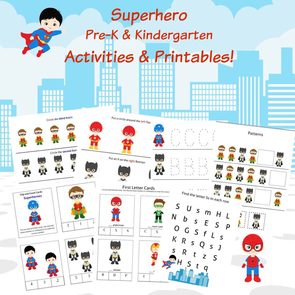 Free Superheroes Printables Amp Activities
