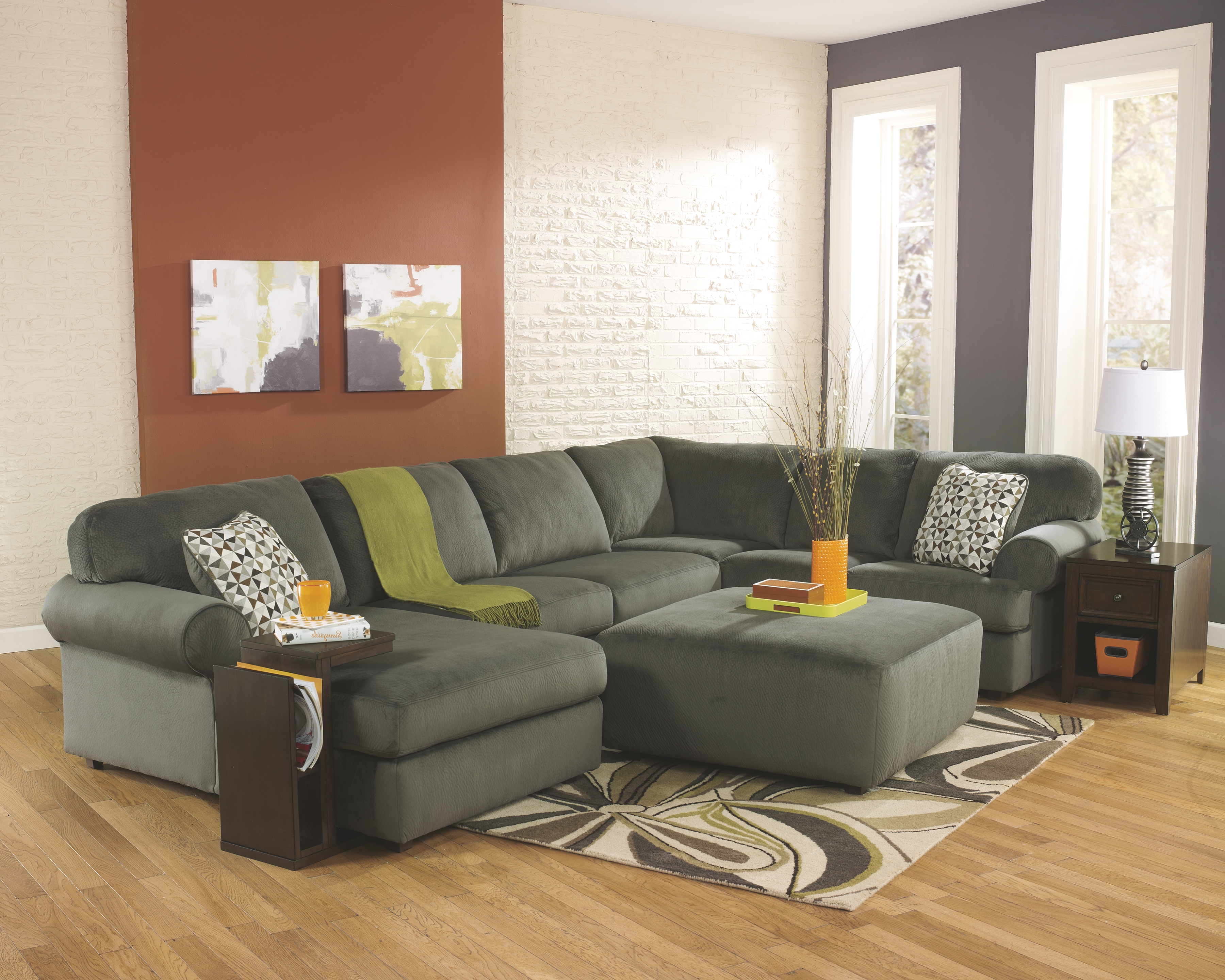 Terrific Jessa Place 3 Piece Sectional With Ottoman Products Alphanode Cool Chair Designs And Ideas Alphanodeonline
