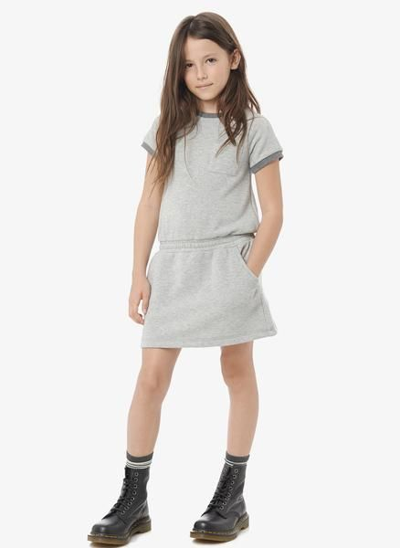 Vince Girls French Terry Dress Heather Grey Final