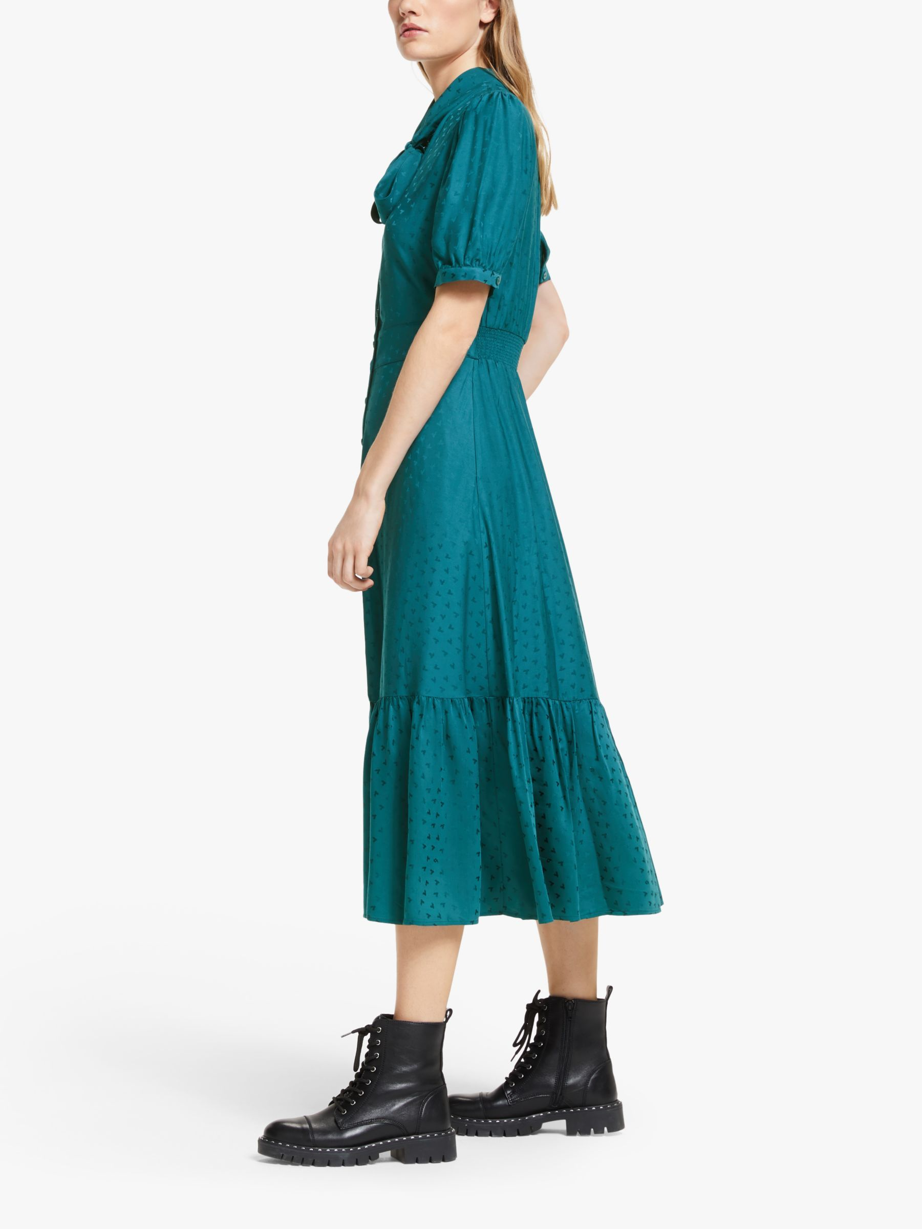 Somerset By Alice Temperley Peacock Heart Shirt Dress Green In
