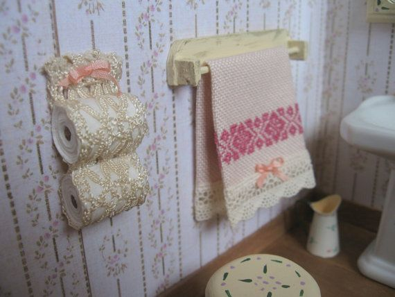 Toilet paper holder style shabby victorian by for Commode style shabby