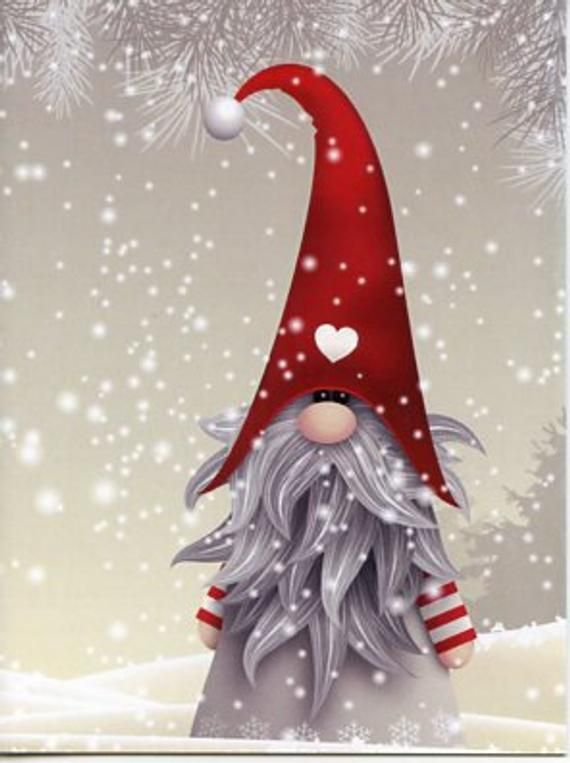 Nordic Scandinavian Gnome Elf Tomte Nisse Christmas Cards Box Etsy In 2020 Christmas Paintings Christmas Drawing Christmas Art